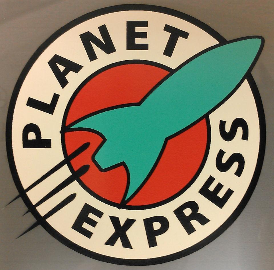 PLANET EXPRESS futurama logo sticker decal