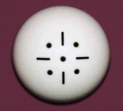Black Dot Practice Training Billiard Pool Cue Ball 2 1/4 6