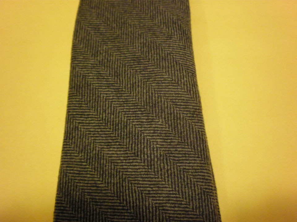 BRUNELLO CUCINELLI MENS GRAY SLIM TIE NEW WITH TAG WOOLCASHMERE