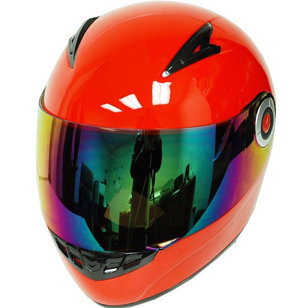 New Youth Kids Motorcycle ATV Dirt Bike Full Face Helmet Glossy Red S