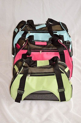 NEW COMFORT TRAVEL CARRIER PET DOG & CAT SOFT TOTE, 3 COLORS, S, M