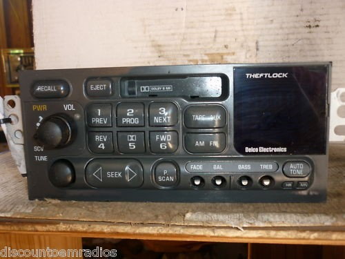 98 01 Chevy Blazer Jimmy Camaro Radio Cassette Player 16232121 *