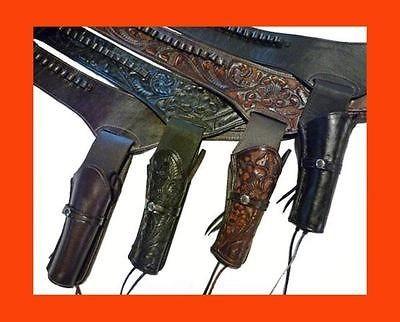 WESTERN Cowboy Gun Belt HOLSTER RIG Heavy Hand Tooled