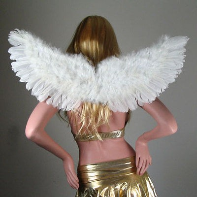 White Feather Angel Wings Halloween Costume HALO photo props fairy