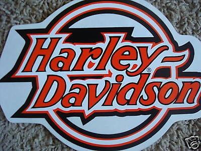 New Harley Davidson Large Circle Logo Window Decal Sticker
