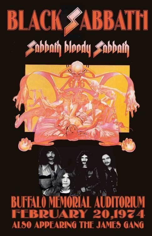 BLACK SABBATH REPLICA *BUFFALO 1974* CONCERT POSTER