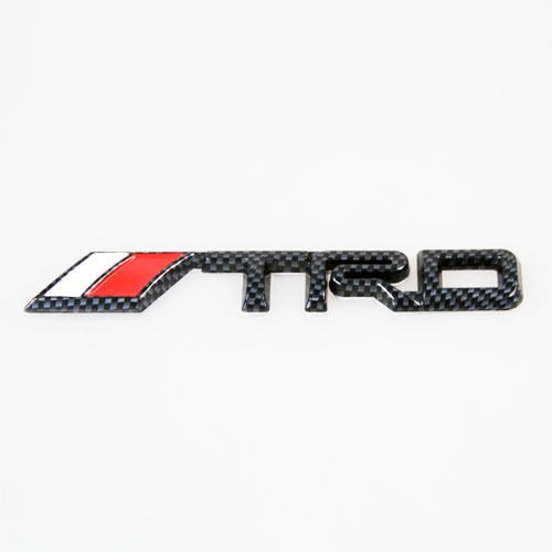 New 3D Car Decor Decal Badge LOGO Emblem For TOYOTA TRD LOGO Black