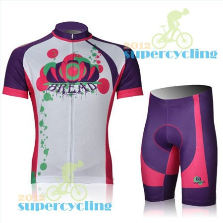 2013 Women Bike Cycling Bicycle Comfortable Jersey+3D Padded Shorts