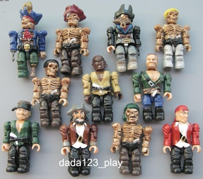 6PCS Mega Bloks Pirates of the Caribbean MINI action figure 2 loose