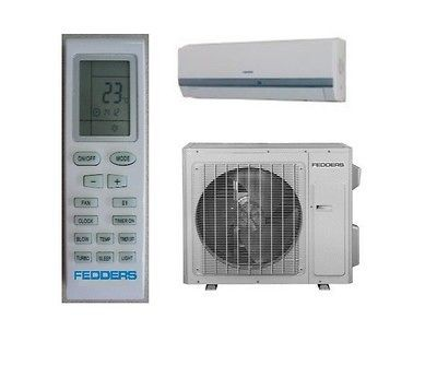 Fedders 12K btu Ductless Mini Split AC/Heat Pump w/ 25 install kit