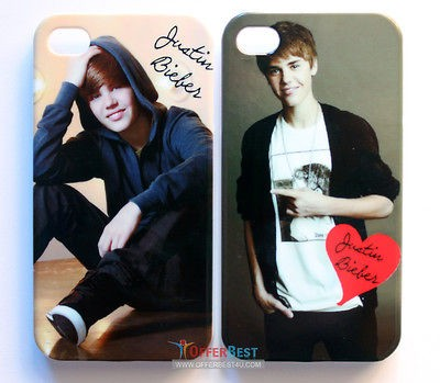 Justin Bieber Stylish Case cover For iphone 4 4S KISS JUSTIN BIEBER