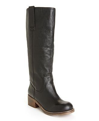 STEVE MADDEN FOREWAY $139 BLACK LEATHER TALL RIDING BOOT 6.5 NEW