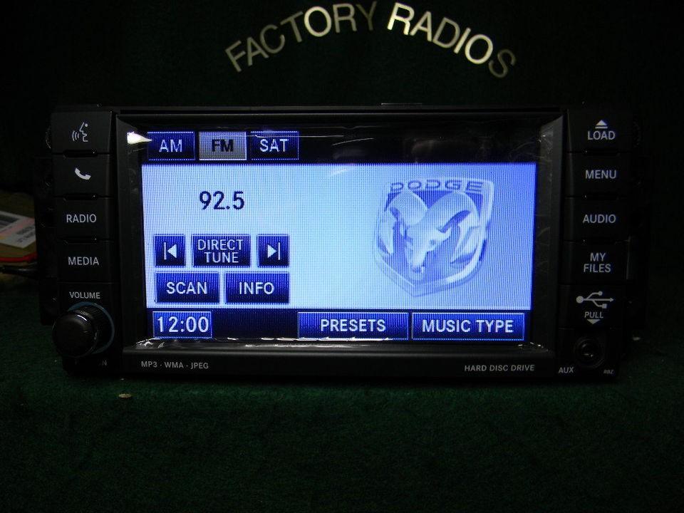 CHRYSLER DODGE JEEP MYGIG DVD Hardrive Sirius RADIO P05064678AE HIGH
