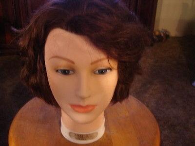 22 Cosmetology Mannequin Burmax head human hair Sam 2 II brown
