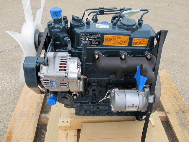 KUBOTA D1005 DIESEL ENGINE 3 CYLINDER 1.0 LITTER NEW 25HP MEETS TIER 4