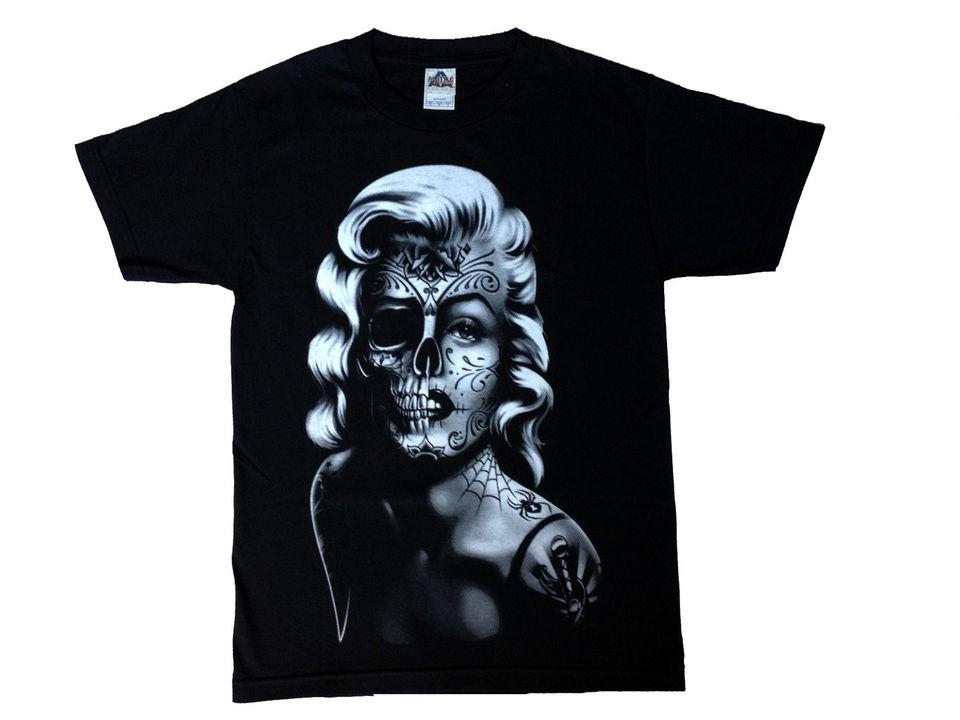 Marilyn Monroe Shirt   Sugar Skull   Mexican Day of the Dead