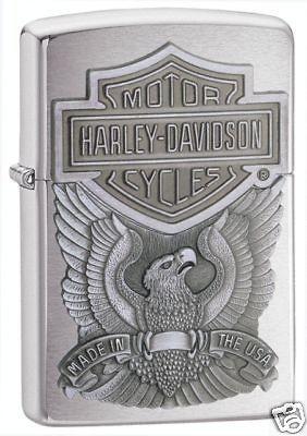 Zippo Harley Davidson Logo Emblem Chrome Lighter,Low Ship, 200HD