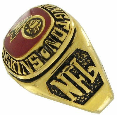Balfour Ring Football Nfl Team Washington Redskins Sz 11.5