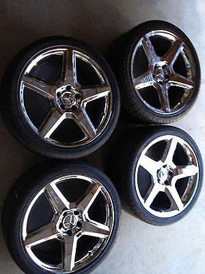 19 Mercedes Benz AMG wheels+Tires, OEM, Chrome and Excellent