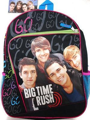 Big Time Rush fullsize large Backpack Book Bag 16 Brand New band