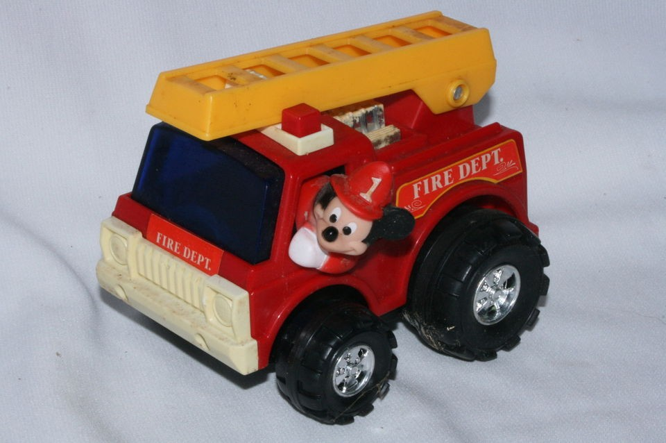 mickey mouse fire truck in Toys & Hobbies