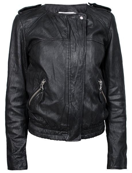 NWT ETOILE ISABEL MARANT Kalibo Black Leather Motorcycle Jacket