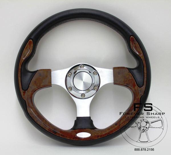 club car golf cart 12.5 F804 wood look steering wheel