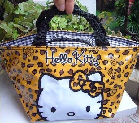 New CUTE Hello Kitty Lunch Bag Handbag PURSE Tote Nice Gift For Kids #