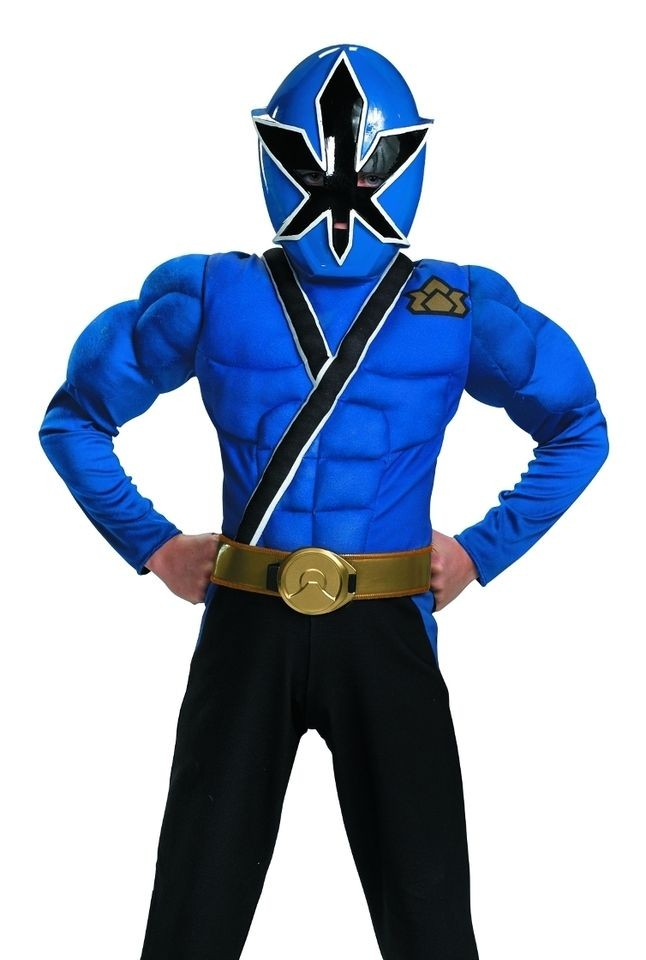 kids power rangers samurai blue ranger halloween costume