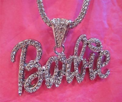 iced out nicki minaj barbie pendant necklace hip hop returns