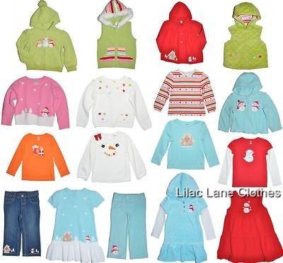 Gymboree Cozy Cutie Shirt Jeans Dress Sweater Vest Hoodie Blue Red