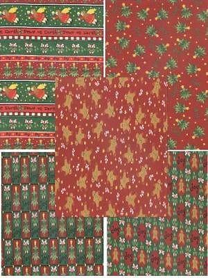 Half Yard   Christmas Peace & Joy Collection   Plus Gingerbread Men