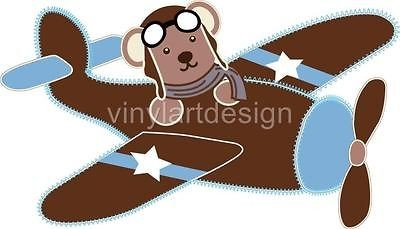 Airplane Removable Wall Sticker Vinyl Decal Baby Kids Room Decor