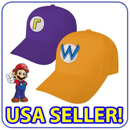 new super mario luigi costume caps wario waluigi hats usa