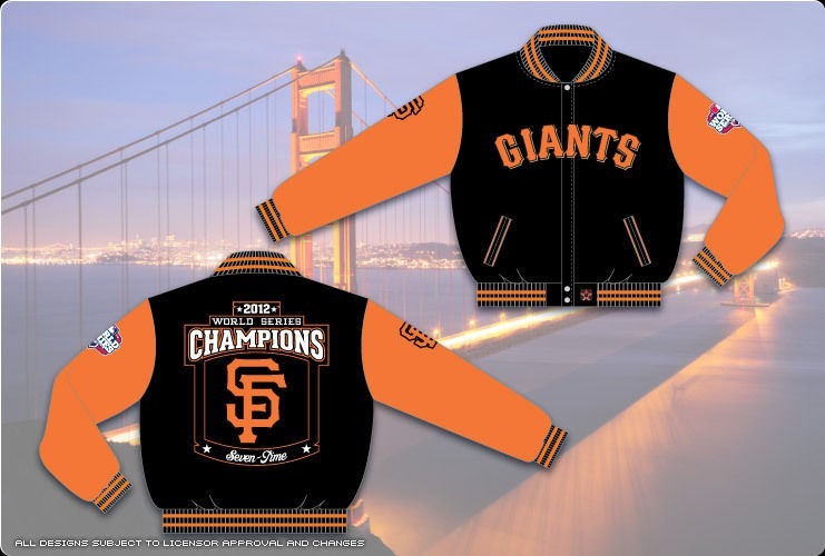 San Francisco Giants 2012 World Series Champions Mens Custom Wool