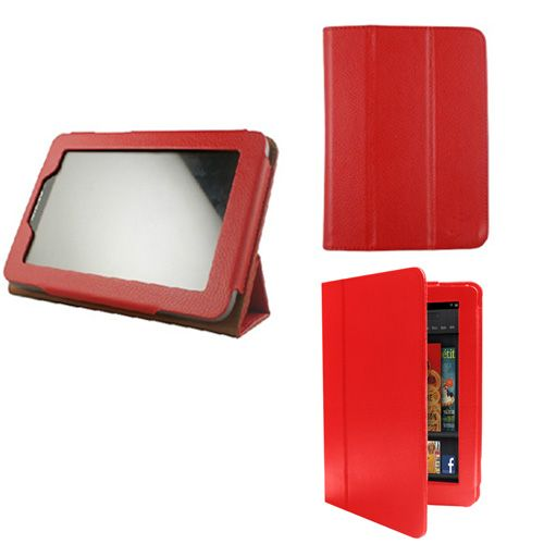D2 Red Stand Smart Leather Case Cover for Lenovo 7 IdeaPad A2 A2107
