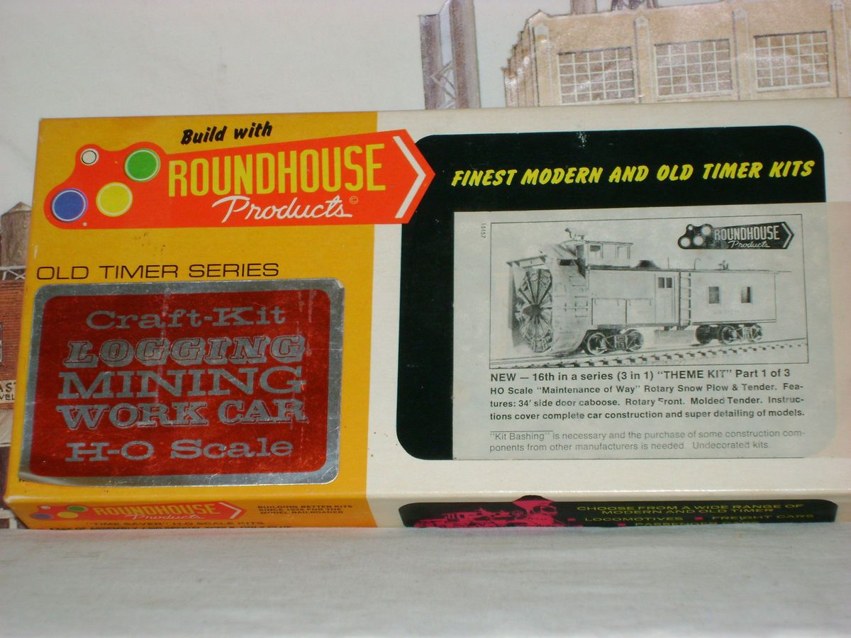 Roundhouse MDC Rotary Snow Plow and Tender Kit HO Scale Train Mint