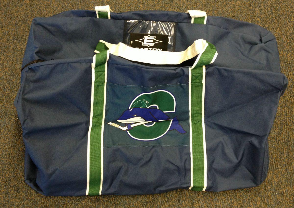 Easton Custom Team Hockey Equipment Bag Ct Whale New AHL ...