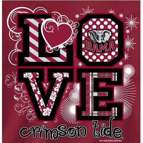 Alabama Crimson Tide Football T Shirts Bama Girls Love Crimson Tide