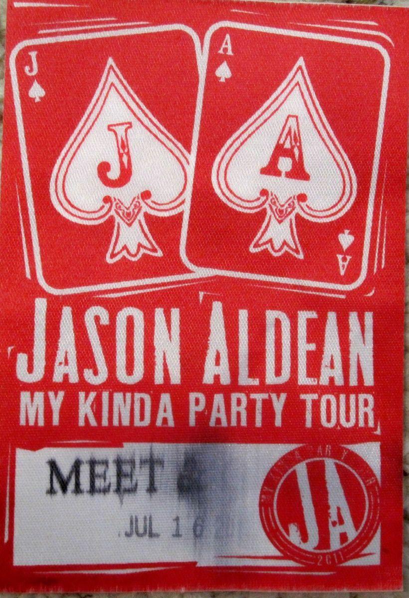 Jason Aldean My Kinda Party Tour Backstage Pass 2011
