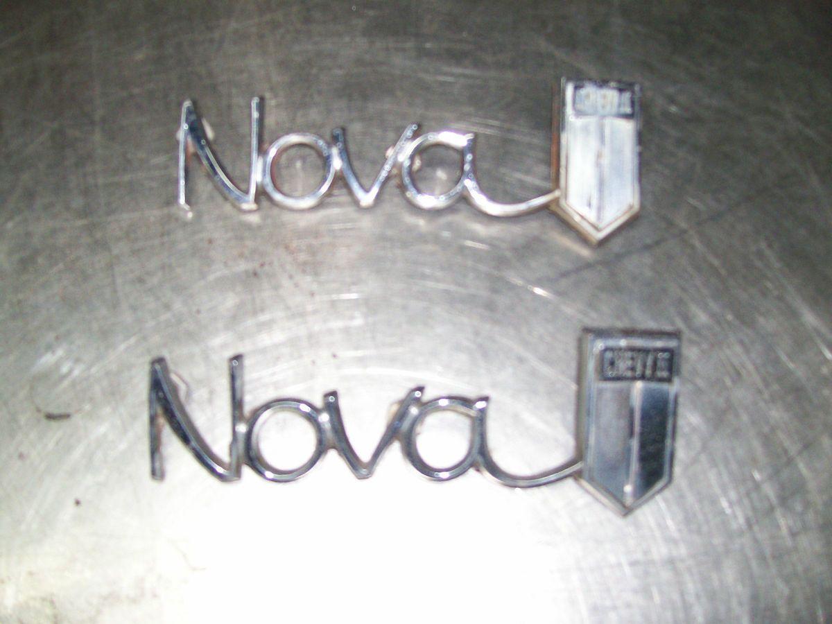 1966 Chevrolet Chevy II Nova Rear Fender Emblems Used