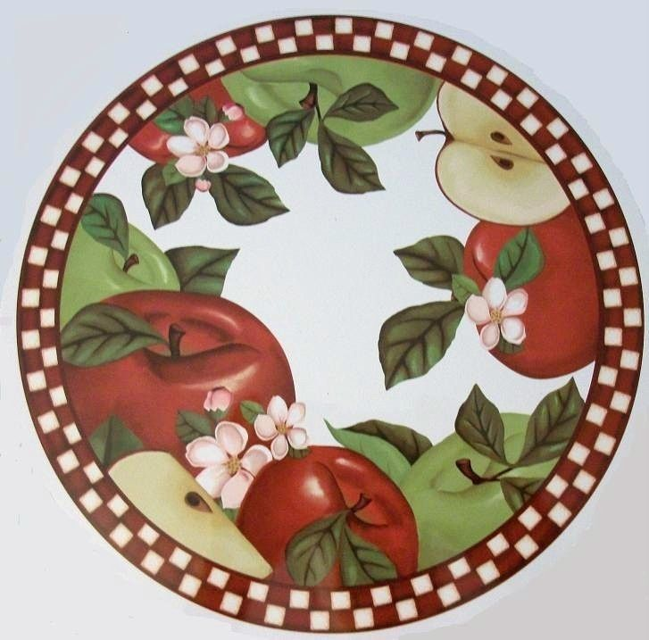 Apple fruit country kitchen stove burner cover home decor for Apple fruit decoration