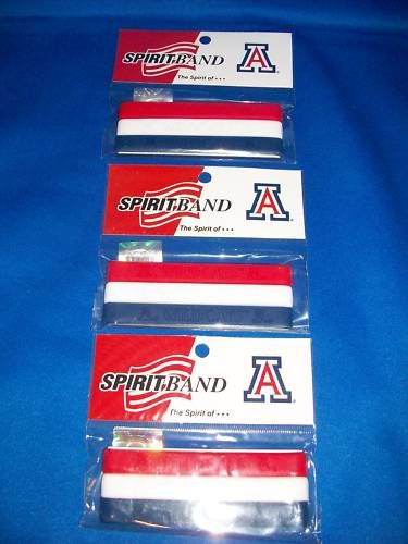 Arizona Wildcats 9 Rubber Bracelets Wristbands
