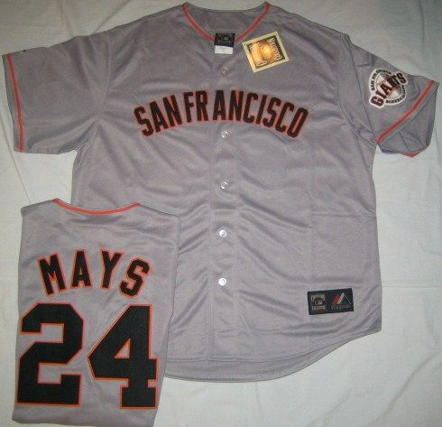 San Francisco Giants Baseball Jersey Mays Mens Gray