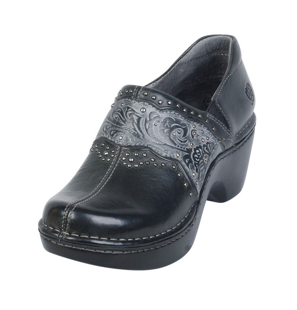 New Ariat Womens Ashland Black Leather Clog Style 10006777