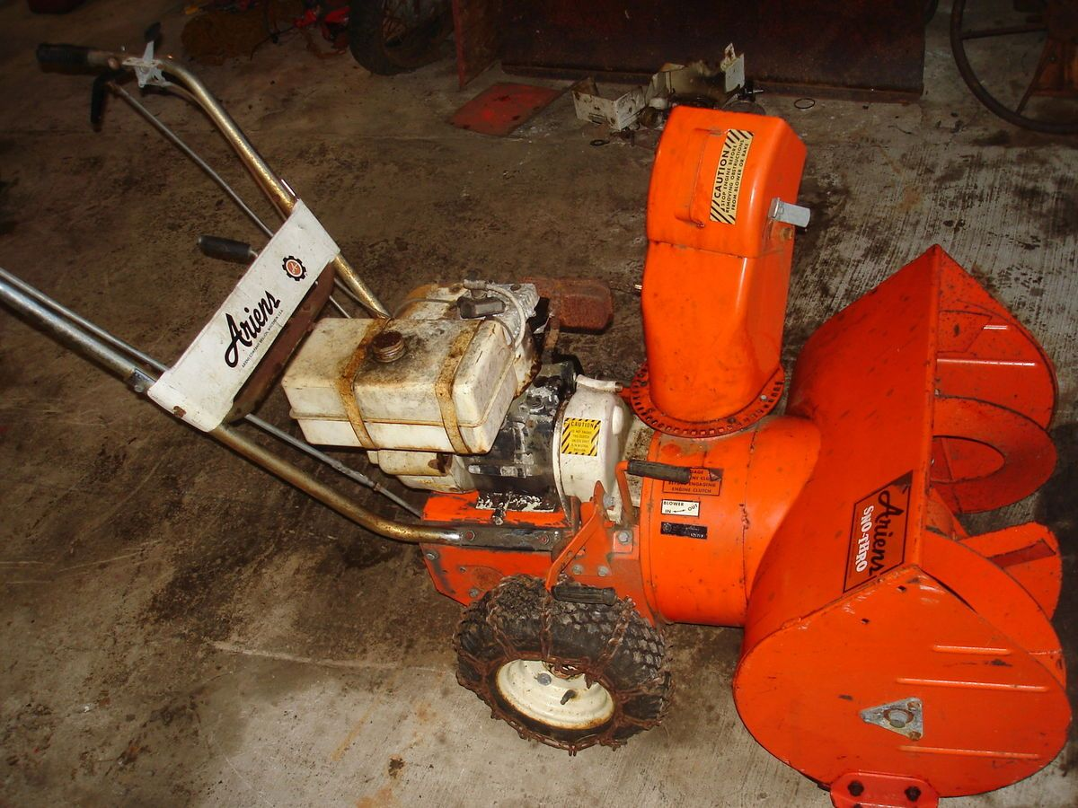 ARIENS 24 TWO STAGE SNOW BLOWER SNOW THROWER FOR PARTS OR