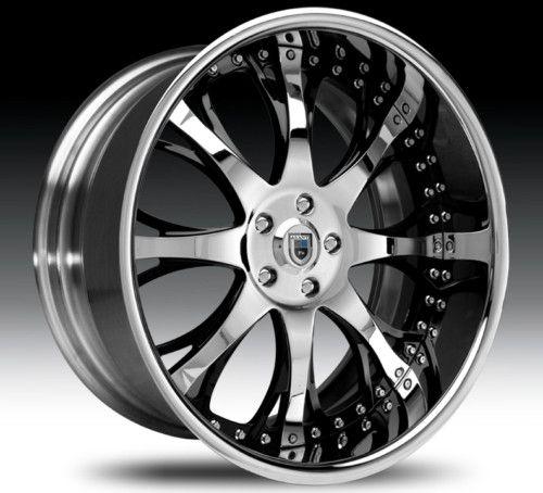 22 asanti AF153 Black Chrome Wheels Rims 2 Piece Tone