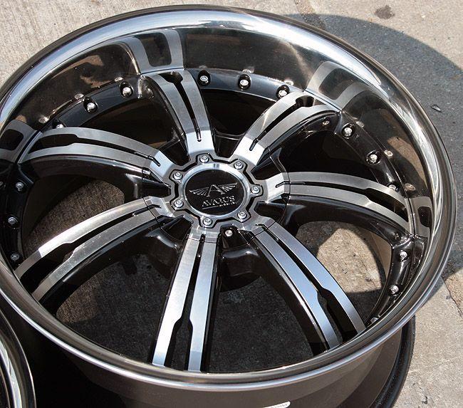 Avarus AV4 19 Black Rims Wheels BMW E39 E60 5 Series