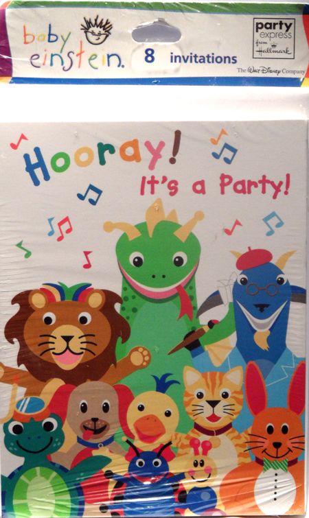 Disney Baby Einstein Birthday Party Invitations 8 Cards & Envelopes