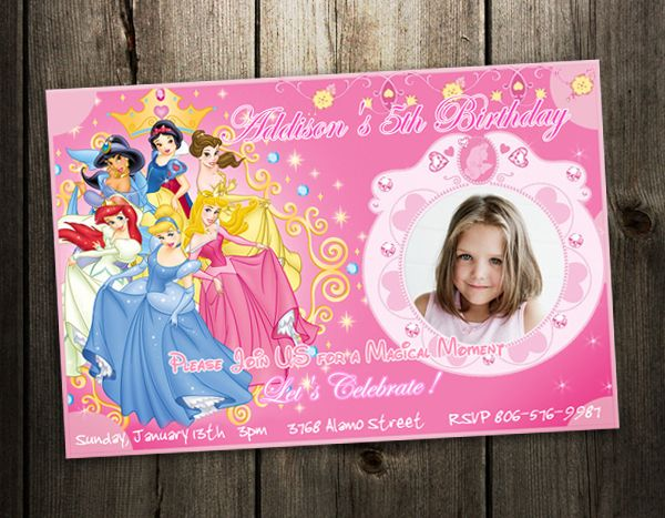 Birthday Party Invitation Photo Card Custom Invites Baby Shower